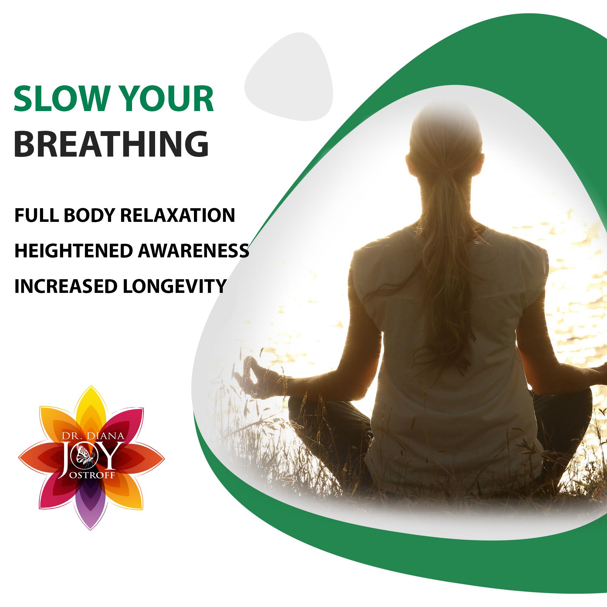 slow your breathing for longevity